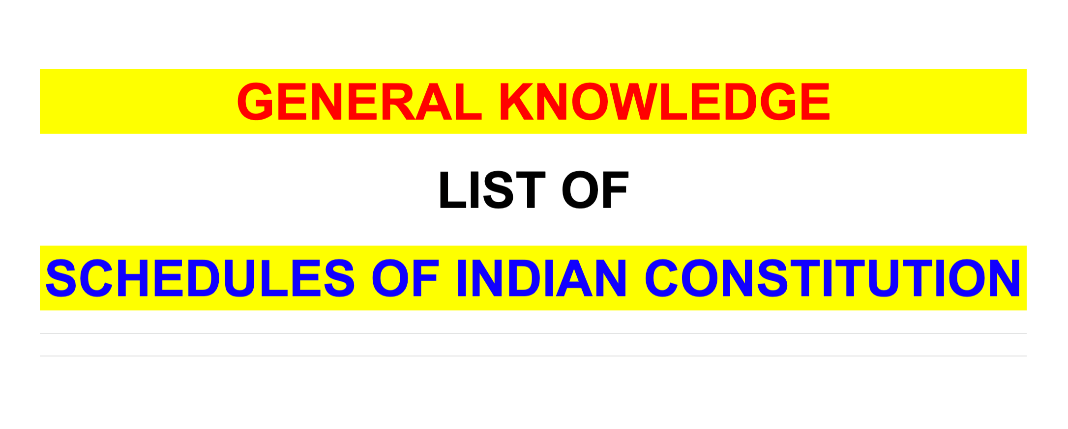 list of 12 schedules of indian constitution
